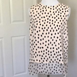 Kate spade sleeveless leopard dot blouse s nwot